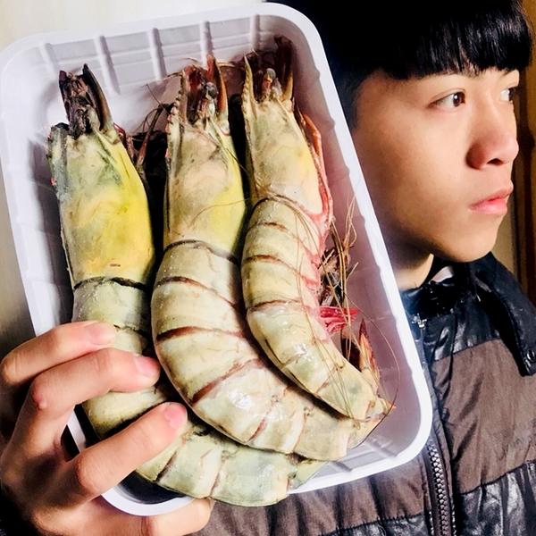 ㊣盅龐水產◇海草蝦4P(1kg)◇重量1kg±10%/盒◇零$1585/盒◇一盒4隻大草蝦 聚餐首選 歡迎團購批發