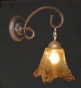 設計師美術精品館歐式鐵藝壁燈復古仿古宜家燈具客廳餐廳壁燈床頭過道壁燈單頭壁燈