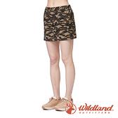 【wildland 荒野】女 彈性50+ 抗UV兩件式迷彩短裙『深卡其』0A91345 戶外 休閒 運動 吸濕 排汗 快乾