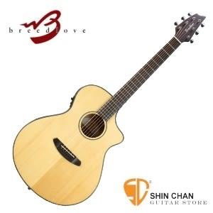 (型號:Discovery Concert CE )Breedlove 電木吉他/民謠吉他 面單板可插電 Concert 琴身 原木色  DCC21CE