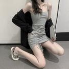吊帶裙子女裝夏季新款一字肩