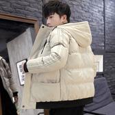 男士外套厚款 日系韓版外套羽絨外套 純色風衣冬季潮流棉服 時尚夾克外套加絨 百搭加厚男生外套