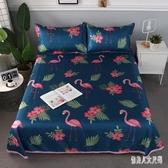 涼席三件套1.8米床雙人折疊席子2x2.2夏季冰絲席可水洗床單空調席WL2236【俏美人大尺碼】