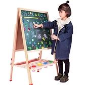 兒童畫板雙面磁性小黑板支架式家用寶寶畫畫涂鴉寫字板畫架可升降  ATF  夏季新品