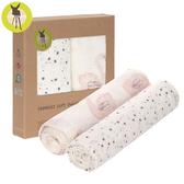 德國Lassig-超柔手感竹纖維嬰兒包巾毯2入-天鵝