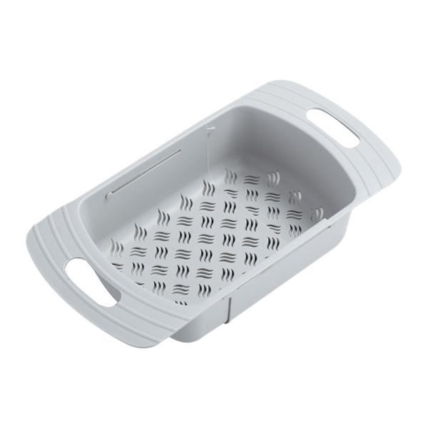 可伸縮式水槽瀝水籃(1入) 【小三美日】顏色隨機出貨