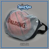 SPALDING 籃球袋 NBA 網狀 銀/藍 隨機出貨 (不附球) SPB5321N69/62【SP】