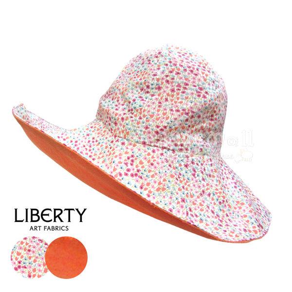 法國製Cocolico手工棉麻雙面遮陽帽-Orange