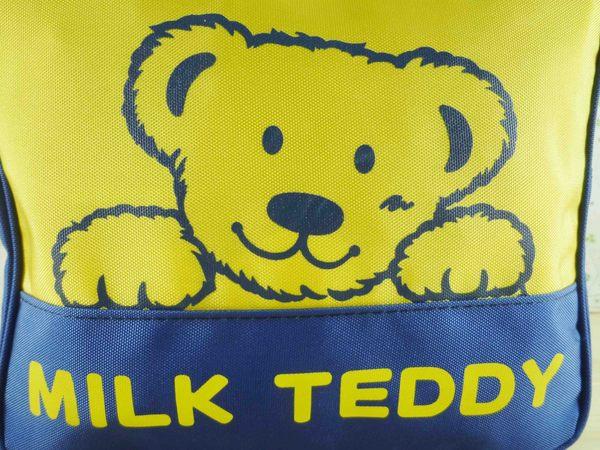 【震撼精品百貨】牛奶泰迪熊_MILK TEDDY~後背包『黃藍色』