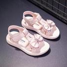 女童涼鞋小女孩時尚亮片公主鞋夏季軟底沙灘鞋兒童涼鞋女 錢夫人小舖
