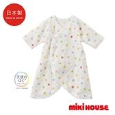 MIKI HOUSE BABY 日本製 可愛動物新生兒蝴蝶紗布衣