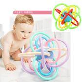 兒童玩具 幼童 手搖手抓球 安撫牙膠搖鈴 長牙階段 二色 寶貝童衣