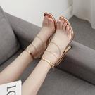 歐美新款 10CM公分以上女夏水鉆魚嘴鞋12CM超高跟鞋金色防水臺一字扣涼鞋女
