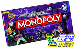 [104美國直購] 聖誕夜驚魂 卡片紙牌 大富翁 Monopoly MN004-261 The Nightmare Before Christmas Collector s Edition