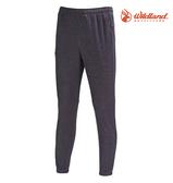 丹大戶外【Wildland】荒野 中性彈性針織束口褲 0A71621-93 深灰色