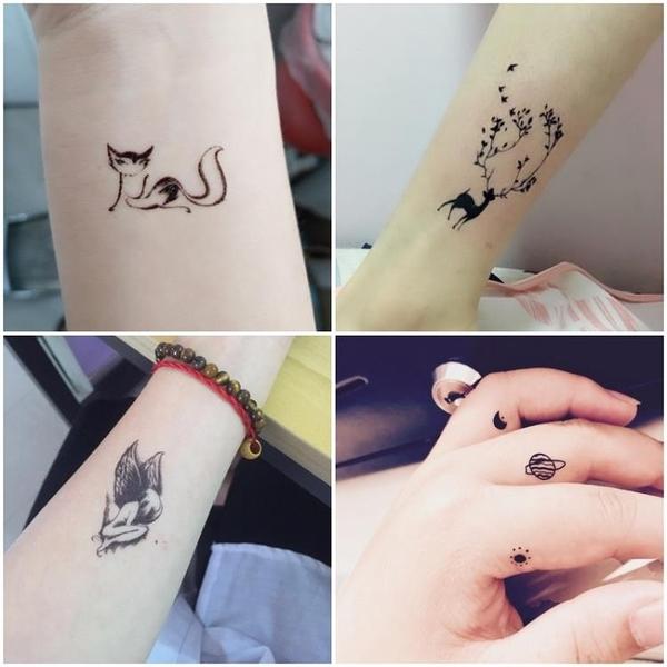 紋身貼 刺青 紋身貼男女防水持久ins風膏仿真1年性感刺青網紅 不永久貼紙 30張