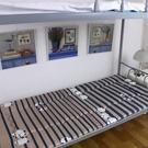 加厚寢室上下鋪床墊可折疊0.9m單人大學...