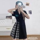 襯衫洋裝 連身裙女2021年新款襯衫裙早...