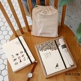手帳本禮盒套裝小清新文藝記事本日式貓咪旅行筆記本【時尚大衣櫥】