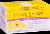 Bigelow我愛檸檬茶花草茶 不含咖啡因  市價399  特賣199
