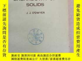 二手書博民逛書店the罕見theory of dielectric breakdown of solids(P1330)Y17