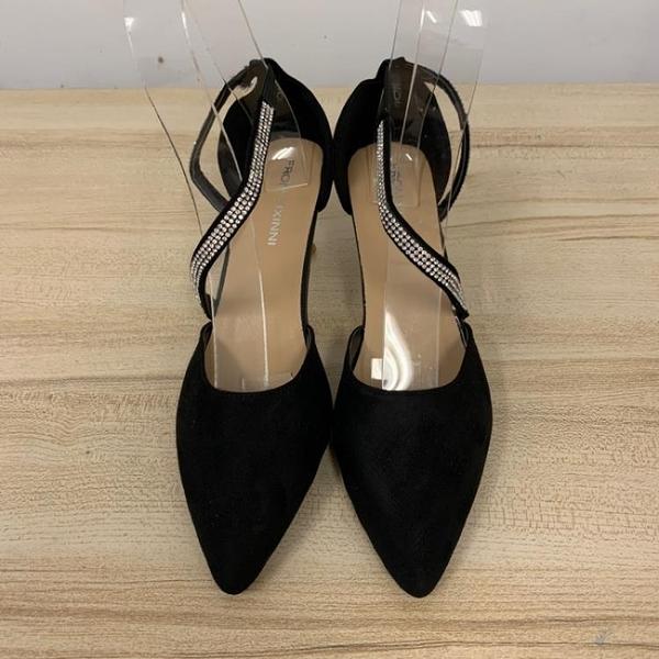 尖頭高跟鞋細跟性感工作鞋(36-39號/跟高6/121-6428)