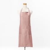 HOLA 素色織紋圍裙70x80cm梅粉色
