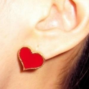 ♥巨安購物網♥【GE0275】歐美外貿飾品百搭小物 愛心造型 耳釘