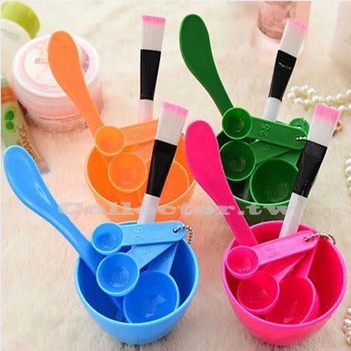 【超取499免運】DIY面膜美妝工具套裝 4件套 面膜碗 面膜棒面膜刷 計量器