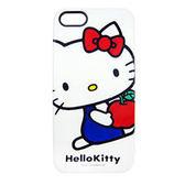 iPhone5S 日本三麗鷗原廠 HelloKitty經典造型(蘋果款) 手機硬殼 Enya恩雅殼 (第二件1元)