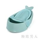 兒童浴盆男童女童 母嬰幼兒童洗澡盆卡通鯨魚嬰兒浴盆套裝 綠色 LJ6622【極致男人】