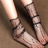 蘭草集網紗襪女夏薄透肉中筒絲襪堆堆襪 性感薄紗鏤空蕾絲漁網?