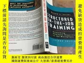 二手書博民逛書店Structured罕見On-The-Job Training(