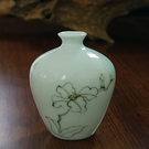 陶瓷擺件迷你陶瓷手繪小花瓶迷你小花瓶小清新手繪插花瓷器