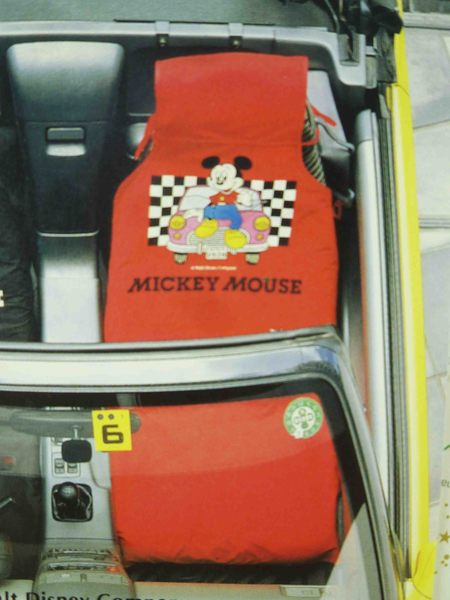 【震撼精品百貨】Micky Mouse_米奇/米妮 ~汽車椅套-紅