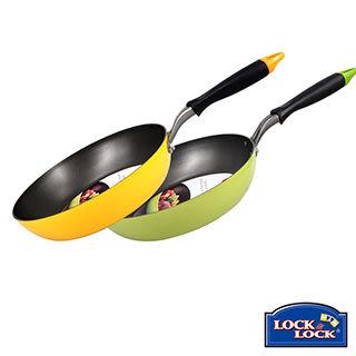 【樂扣樂扣】E-COOK彩繪平煎鍋28CM/綠色/黃色(LED2283G/LED2283Y)