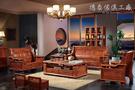 【德泰傢俱工廠】黃花梨木 100%全實木沙發椅 (1+2+4+大/小茶几+腳椅) 908