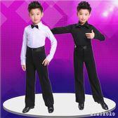 中大尺碼男童演出服 男童拉丁舞服裝冬夏兒童舞蹈服少兒拉丁舞比賽服裝 XY9144【KIKIKOKO】