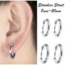 素簡手作《OSE015》醫療鋼針 圓圈耳環 鈦鋼耳環 大耳環 鈦鋼耳環 / 需耳洞