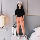 女童九分褲休閒褲 2020夏裝新款中大童百搭寬管褲洋氣兒童bf寬鬆 米娜小鋪