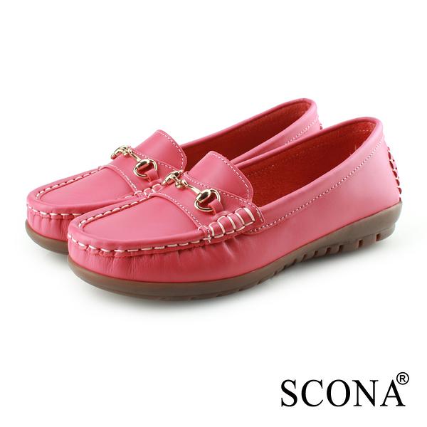 SCONA 蘇格南 全真皮 經典手縫全包式休閒鞋 紅色 7338-2