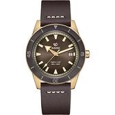 RADO 雷達 庫克船長青銅自動機械腕錶 R32504306