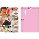 【奇奇文具】龍德 LD-800-R-A 粉紅 全張 A4三用標籤