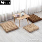 九隻貓創意餅幹坐墊加厚椅墊可愛辦公室榻榻米墊餐椅墊實木椅子墊 可可鞋櫃