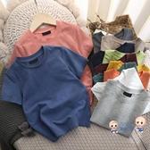 男童T恤 男童短袖t恤日系棉質素色短袖T恤兒童夏季短袖男童裝2020夏款半袖 多色