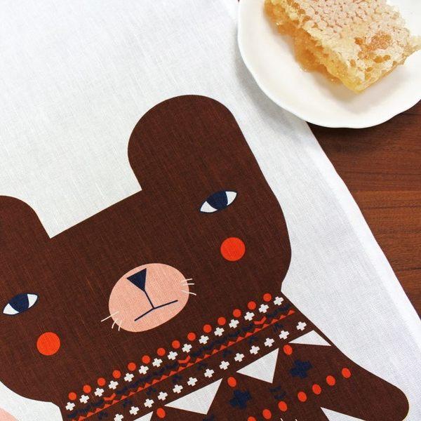 Donna Wilson 熊朋友 茶巾 野餐茶巾
