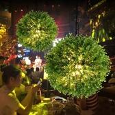 吊燈 音樂餐廳咖啡廳主題餐廳音樂酒館酒吧裝飾草球植物 現貨快出YJT