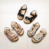 女童涼鞋真皮花朵韓版時尚小童女孩公主童鞋寶寶軟底吾本良品