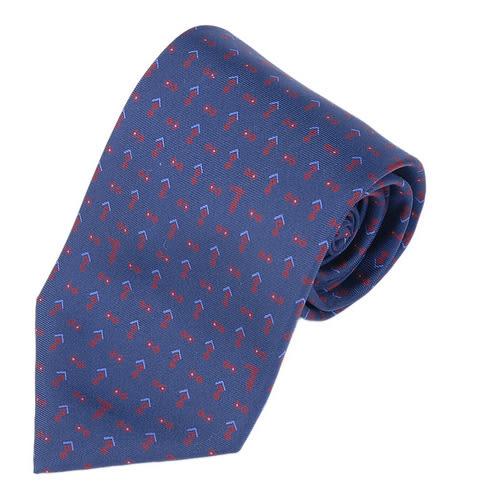 TRUSSARDI 碎雙菱圖領帶(藍/紅)870204