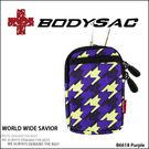 Colorful 機能性 潮流休閒小包 / 手機袋 千鳥紫 (purple) AMINAH~【BODYSAC B6618】